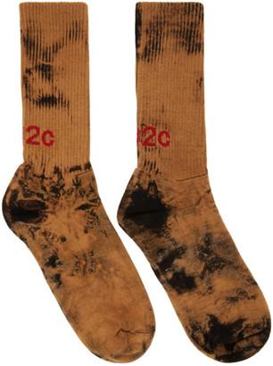 032c Black Bleach Logo Socks