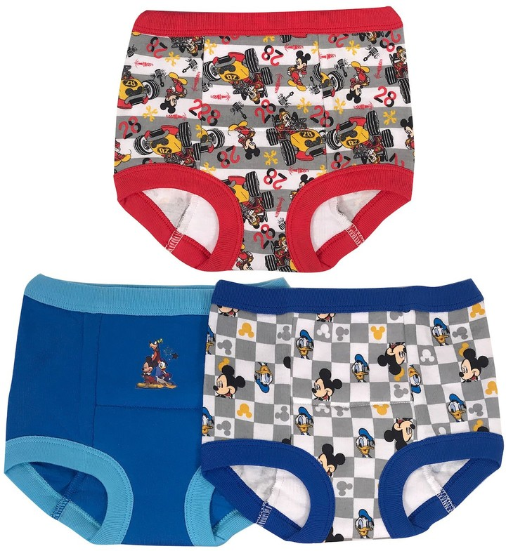 click2style 3 Pairs Boys Boxer Shorts Trunk Pants Children Underwear Kids Button Fly