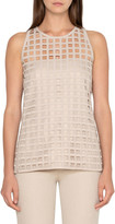 Akris Sleeveless Grid-Lace Blouse