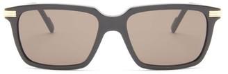 Cartier C Decor Rectangular Acetate Sunglasses - Black