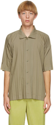 Homme Plissé Issey Miyake Khaki Edge Short Sleeve Shirt