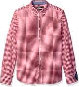 Nautica Men's Long Sleeve Poplin Classic Fit Gingham Shirt