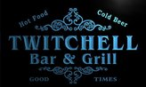 AdvPro Name u45962-b TWITCHELL Family Name Bar & Grill Home Decor Neon Light Sign