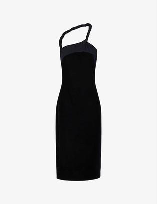 Reiss Karla one-shoulder velvet dress