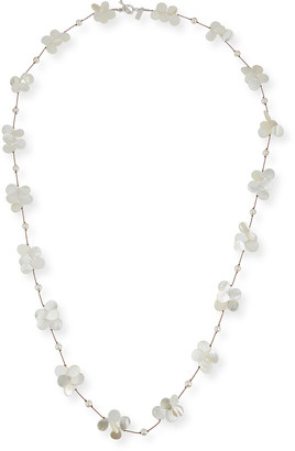 Margo Morrison White Pearl & Mother-of-Pearl Necklace, 35