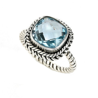 Samuel B. Silver 4.25 Cttw. Blue Topaz Ring