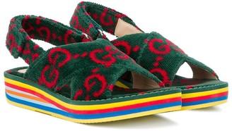 Gucci Kids GG Supreme striped-sole sneakers