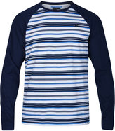 Hurley Men's Stripe Thermal Knit Raglan Sleeve Shirt