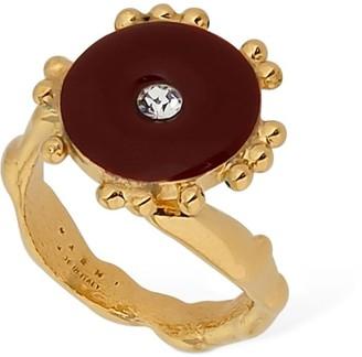 Marni Enameled Ring W/ Crystal