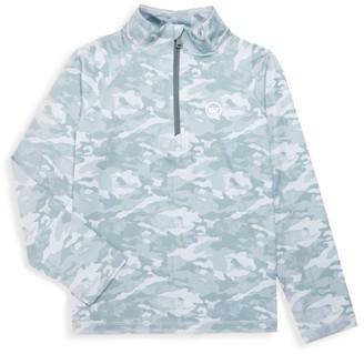 Vineyard Vines Little Boy's & Boy's Camo-Print Half-Zip Sweatshirt