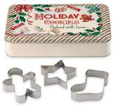 """Lenox Home for the HolidaysTM 4-Piece """"Holiday Cookies"""" Tin and Cookie Cutters Set"""