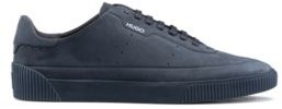 HUGO Tennis-style nubuck trainers with tonal sole and laces