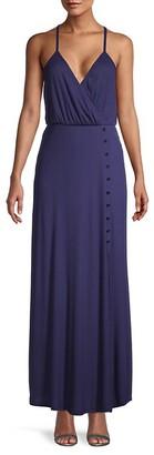 Miss Me Slit-Front Surplice Dress
