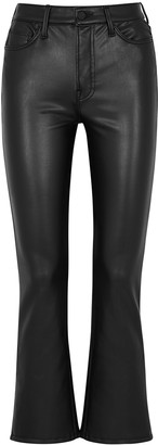 Mother The Insider black faux leather trousers