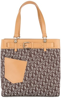 Christian Dior pre-owned Trotter pattern tote bag