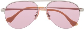 Gucci Aviator-Frame Tinted Sunglasses