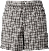 Brioni checked swimming shorts - men - Cotton/Polyamide - XS
