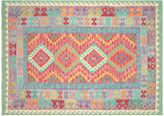 Nalbandian 7'10x5'8 Nekhbet Flat-Weave Rug, Green