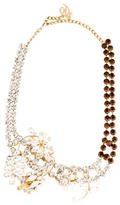 DSQUARED2 Floral Crystal & Pearl Collar Necklace