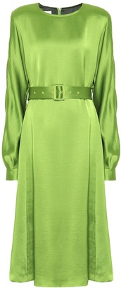 Dries Van Noten Belted satin dress