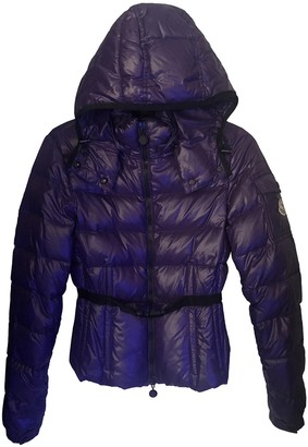 Moncler Hood Purple Coat for Women