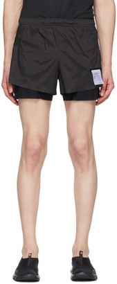 Satisfy Black Silk Long Distance 3 Shorts