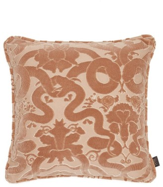 House of Hackney Anaconda Flocked-velvet Cushion - Pink