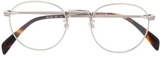 David Beckham Eyewear thin frame rounded glasses