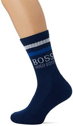 BOSS Men's Qs Rib Stripe Cc Calf Socks, (Dark Blue 409), (Size: 43-46)