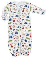 Kissy Kissy Jungle Rumble Convertible Pima Sleep Gown, White/Navy, Size Newborn-Small