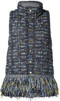 Coohem tweed down vest - women - Cotton/Hemp/Feather Down/Feather - 38