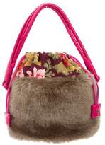 Kenzo Leather-Trimmed Handle Bag