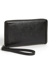 Halogen Zip Around Saffiano Leather Wallet