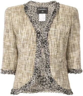 Chanel Pre Owned Cropped Sleeve Fitted Jacket