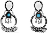 Dannijo Florence Oxidized Silver-plated Swarovski Crystal Earrings - one size