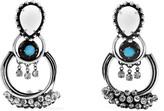 Dannijo Florence Oxidized Silver-plated Swarovski Crystal Earrings - one size
