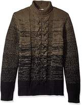 Calvin Klein Jeans Men's Ombre Cable Knit Turtle Neck Sweater