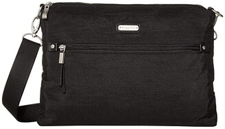 Baggallini New Classic Five Blocks Crossbody Bag (Black) Bags