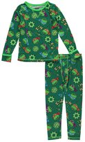 "Cuddl Duds Little Boys' Toddler ""TMNT"" 2-Piece Long Underwear Set"