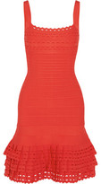 Herve Leger Cassidy Ruffled Bandage Mini Dress
