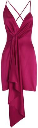 Cushnie Twisted Silk Mini Dress
