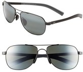 Maui Jim Men's 'Maui Flex - Polarizedplus2' 56Mm Aviator Sunglasses - Copper/ Brown/ Tan