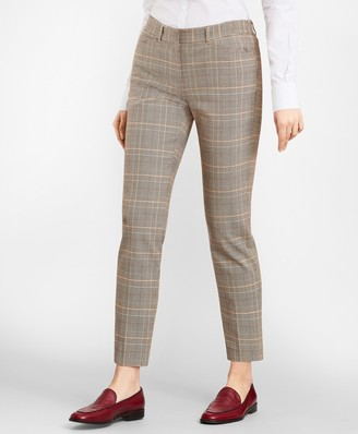 Brooks Brothers Slim-Fit Glen Plaid Twill Pants