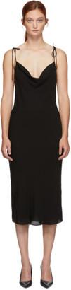 Kiki de Montparnasse Black Silk Simple Slip Dress