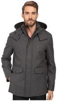 Cole Haan Waterproof Wool Duffle with Removable Hood
