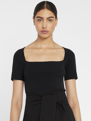 Alice + Olivia Brynn Square Neck Fitted Top