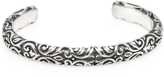 King Baby Studio American Voices Engraved Sterling Silver Cuff Bracelet