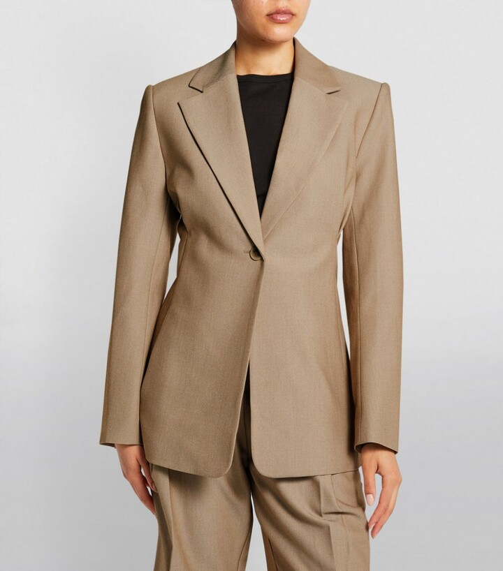 Thumbnail for your product : Camilla And Marc Pleat-Detail Tarantino Blazer