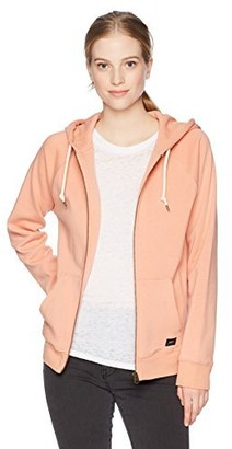 Obey Junior's Comfy Zip Raglan Sleeve Hooded Sweatshirt