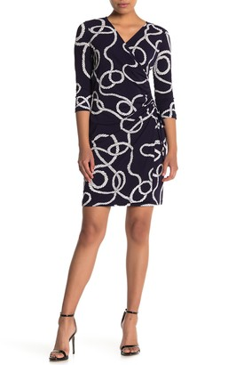 London Times Side Ruched Jersey Dress (Petite)